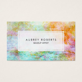 Modern Colorful Watercolor Abstract Pattern Business Card