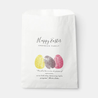 MODERN COLORFUL WATERCOLOR EASTER EGGS PERSONALISE FAVOUR BAG