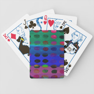 Modern Colorful Watercolor Spots and Stripes Bicycle Playing Cards