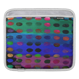 Modern Colorful Watercolor Spots and Stripes iPad Sleeve