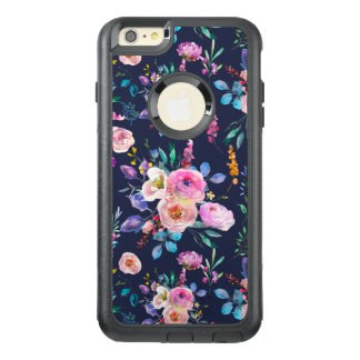 Modern Colorful Watercolors Flowers Pattern GR2 OtterBox iPhone 6/6s Plus Case
