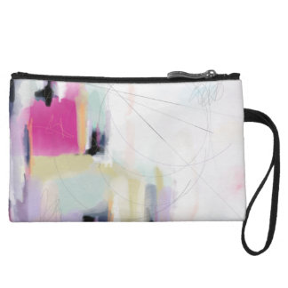 Modern Colorfully Abstract Wristlet