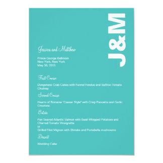 Modern Colors Wedding Menu Card 13 Cm X 18 Cm Invitation Card