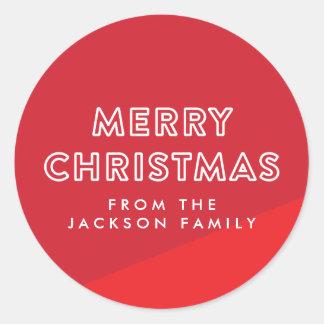 Modern Colour Blocked Christmas Sticker