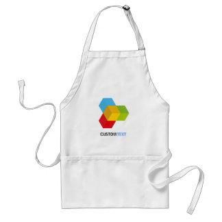Modern Colourful 3D Cube Logo Standard Apron
