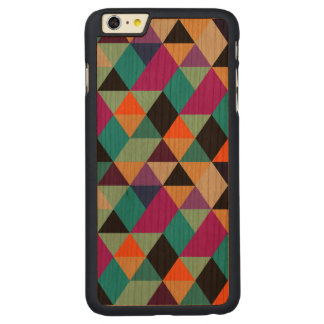 Modern Colourful Geometric Triangles Carved® Cherry iPhone 6 Plus Case
