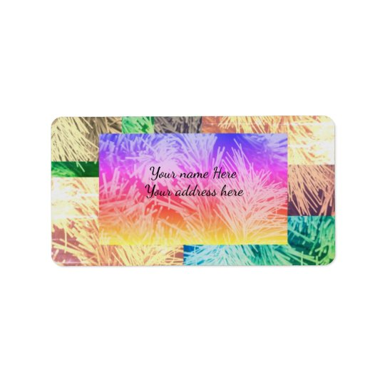 Modern colourful Holiday address label