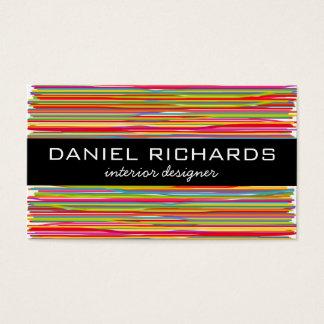 Modern Colourful Interior Designer Business Card