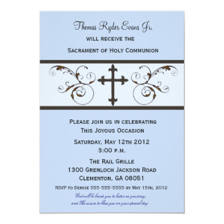 Modern Communion Invitations for Boys