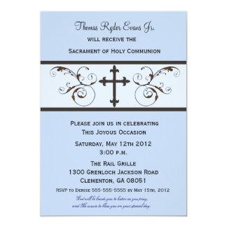 Modern Communion Invitations for Boys