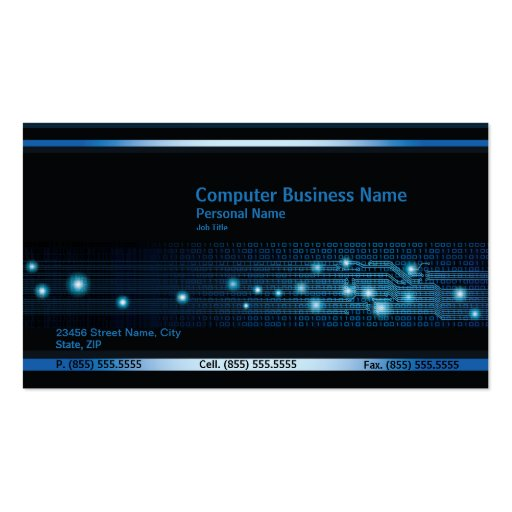 Modern Computer Business Business Card Business Card Template