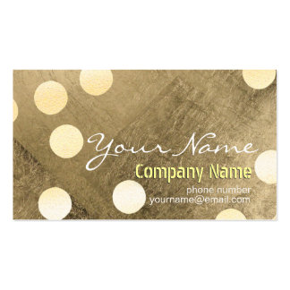 Modern Confetti Gold Polka Dot Gold foil Texture Pack Of Standard Business Cards