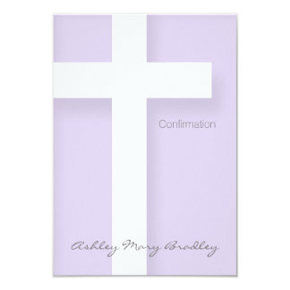 "Modern Confirmation Invitation Choose your Color 1 3.5"" X 5"" Invitation Card"