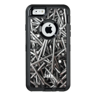 Modern Construction Worker Metal Nails Photo Name OtterBox iPhone 6/6s Case