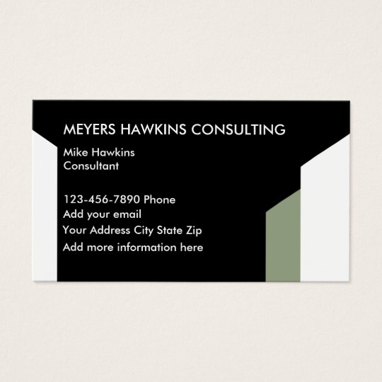 Modern Consulting Services Business Card