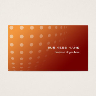 Modern Contemporary Abstract Dots Orange Gradient Business Card