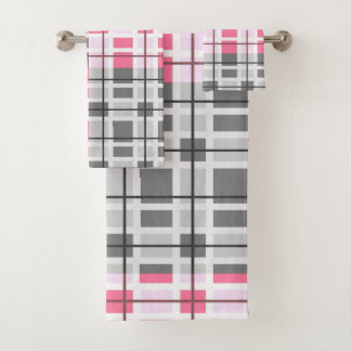 Modern Contemporary Abstract Pattern Bath Towel Set