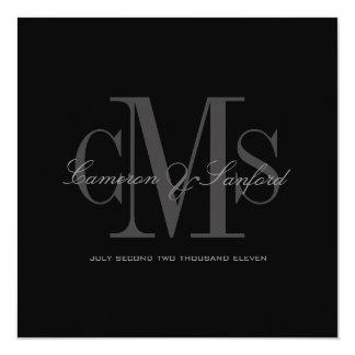 Modern + Contemporary Monogram Wedding Invitations