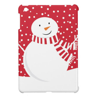 modern contemporary red and white snowman case for the iPad mini