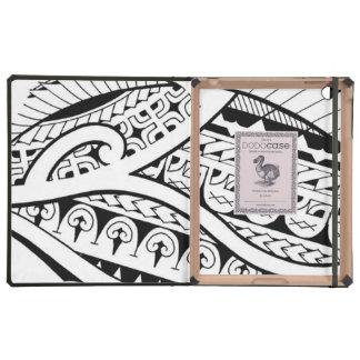 modern contemporary tattoo design Polynesia tribe Cases For iPad
