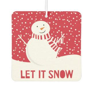 modern contemporary winter snowman car air freshener