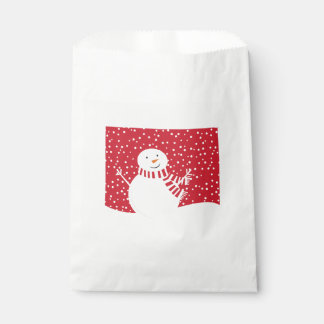 modern contemporary winter snowman favour bag