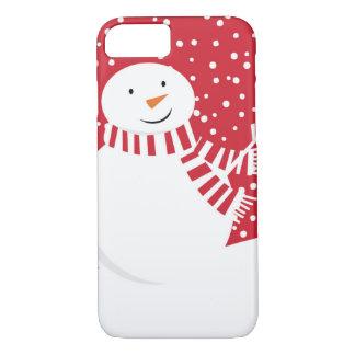 modern contemporary winter snowman iPhone 8/7 case