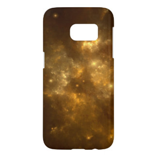 Modern Cool Beautiful Gold Nebula, Stars & Space -