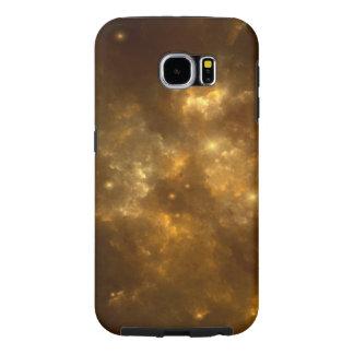 Modern Cool Beautiful Gold Nebula, Stars & Space -