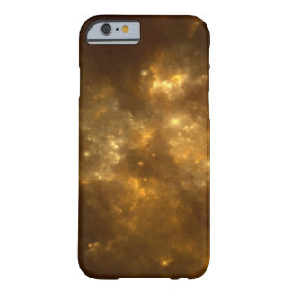 Modern Cool Beautiful Gold Nebula, Stars & Space - Barely There iPhone 6 Case