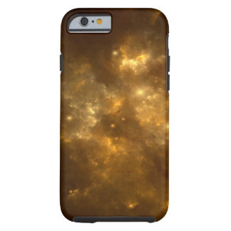 Modern Cool Beautiful Gold Nebula, Stars & Space - Tough iPhone 6 Case