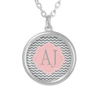 modern, cool chevron monogram, text pendants