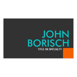 Modern Cool Colors Orange Turquoise Business Card