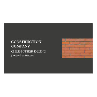 Modern Cool Grey Bricks Construction Industry Pack Of Standard Business Cards