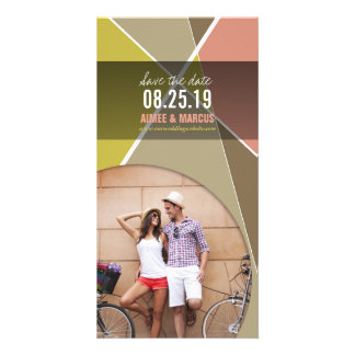 Modern Cool Hip Stylish Criss Cross Save The Date Photo Cards
