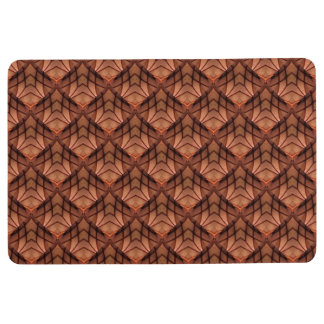 Modern Copper Colored Pattern 034 Floor Mat