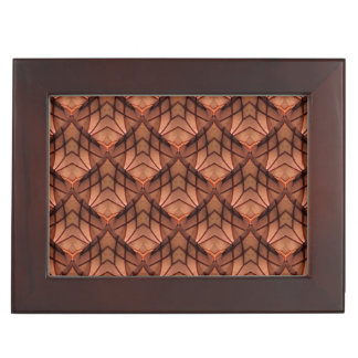 Modern Copper Colored Pattern 034 Keepsake Box