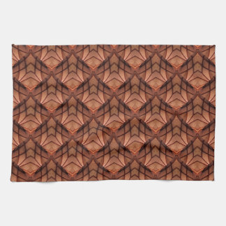 Modern Copper Colored Pattern 034 Tea Towel