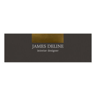 Modern Copper Grey Texture Interior Designer Pack Of Skinny Business Cards