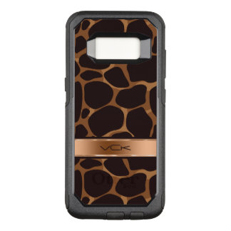 Modern Copper Tones Stylized Leopard Pattern OtterBox Commuter Samsung Galaxy S8 Case