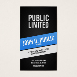Modern Corporate Black Professional Business Card