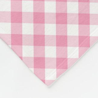 Modern Country Gingham Check Pattern Fleece Blanket