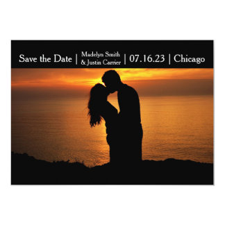 Modern Couple Photo - Save the Date Card