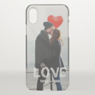 Modern Couples Love Overlay Hand Painted Photo iPhone X Case