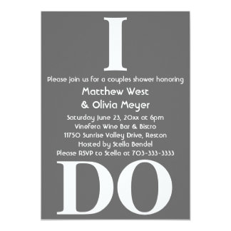 Modern Couples Shower Invite - I Do