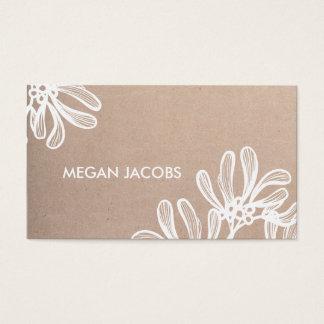 Modern Craft Paper and White branches Business Card