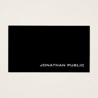 Modern Creative Professional Black White Plain Business Card