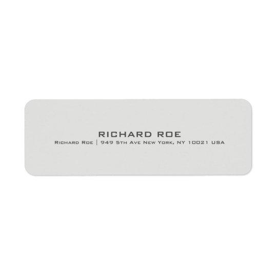 Modern Creative Professional Return Adress Label