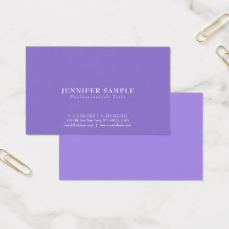 Modern Creative Stylish Violet Professional Design Business Card