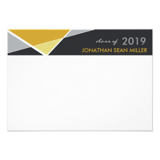 Modern Criss Cross Graduation Thank You Card Personalized Invite